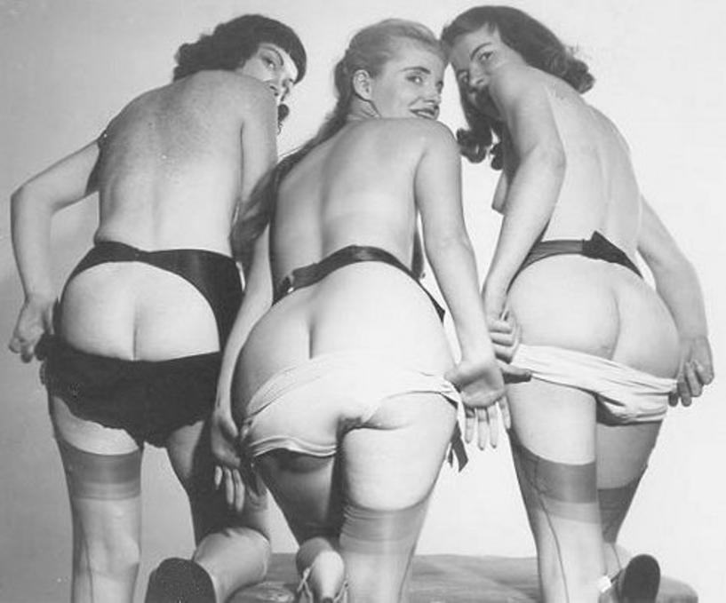 Vintage nude big tits